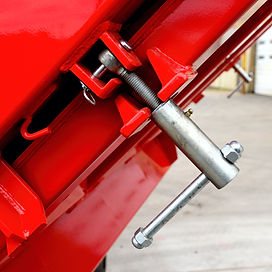 HilBilt Mongoose Dump Body shown with optional manual sludge lock.