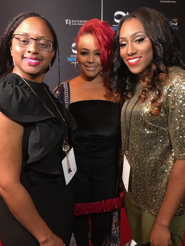Lakeba Wallace, Actor Kim Fields & Precious Thornton at MegaFest 2017