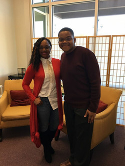Lakeba Wallace and BET Sunday's BEST Geoffrey Golden
