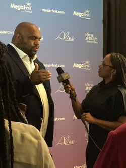 Lakeba Wallace Interviewing Pastor John Gray at MegaFest 2017