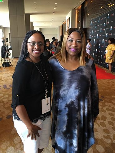 Lakeba Wallace & Gospel Singer Candy West at MegaFest 2017