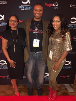 Lakeba Wallace, Courtney Clark (108 Praise Radio) & Precious Thornton at MegaFest 2017
