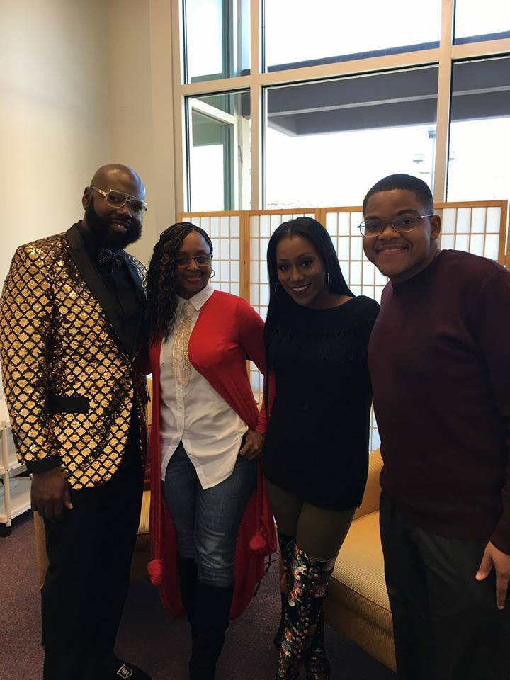 James Patterson, Precious Thornton, Lakeba Wallace and BET Sunday's BEST Geoffrey Golden