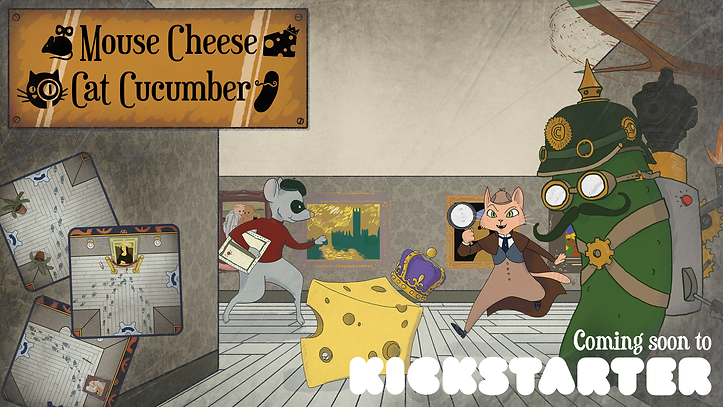 Mouse Cheese Cat Cucumber coming soon to Kickstarter