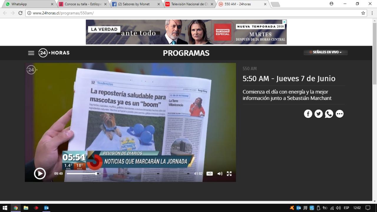 aparicion Noticias TVN