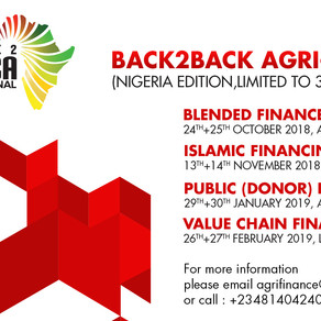 Event Announcement - The Back2Back Agri-Finance training series