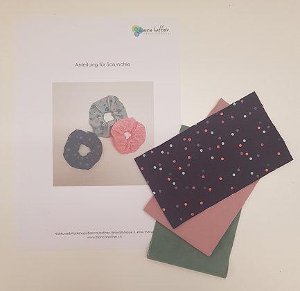 Näh-Kit Scrunchies (mint/rosa/violett)