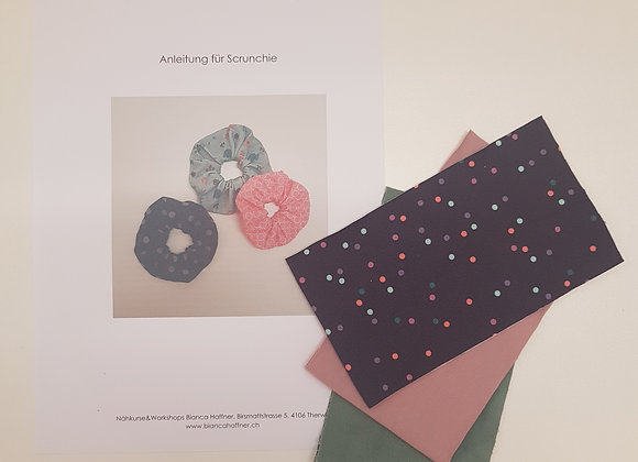 Näh-Kit Scrunchies (mint/rosa/violett)