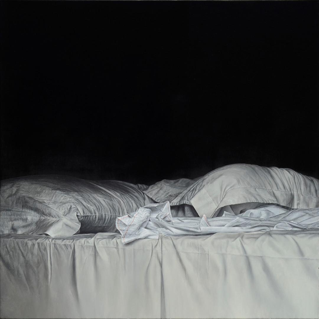 Bed 3, 2016, 100 × 100 cm