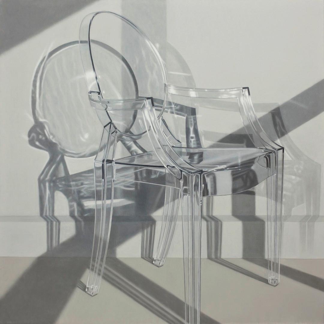 Ghost chair, 120 x 120 cm