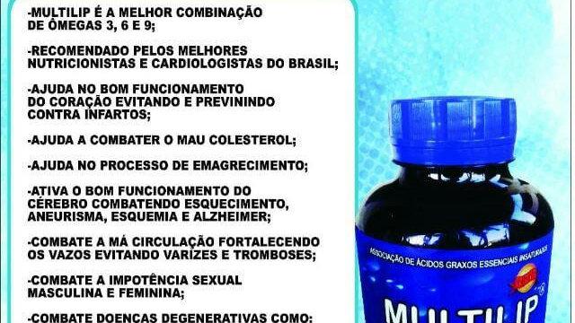 Multilip Ômegas 3, 6 e 9