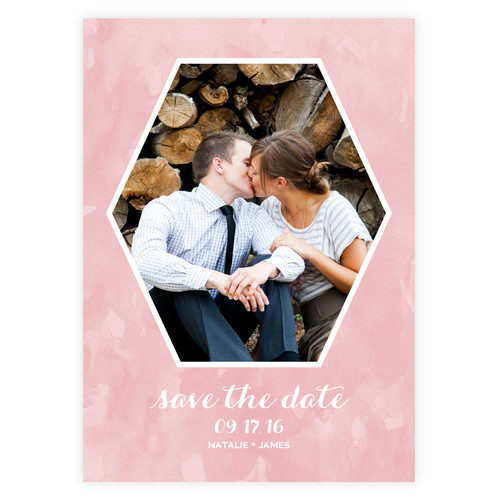 anemone save the date card lynn lou paper co custom