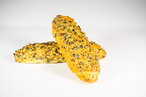 Koruzna štručka z bučnimi semeni in sirom 5 x 100 g