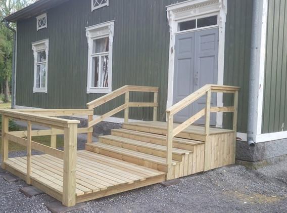 Den nya trappan byggd av A.Ekblom och M.Nordström