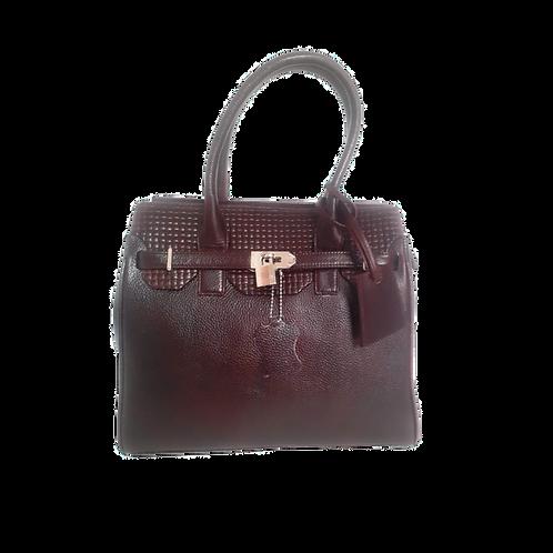 EMF Shielded Leather Handbag