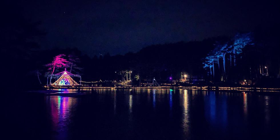 クリスマスイルミネーション@おおぐて湖