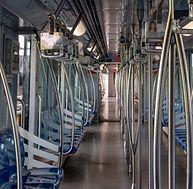Inside an empty subway in Shanghai