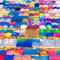 Biggest and popular market in Bangkok
