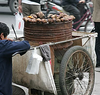 Local street vendor in Shanghai, China