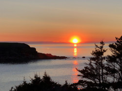 sunset at whale cove