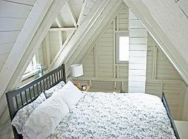 bedroom area, deepBlueSea cottage, seasky oceanfront cottgages in chimney corner, cape breton