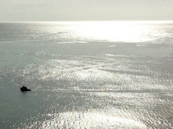 boat, late afternoon sun