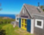 deepBlueSea cottage, seasky oceanfront cottgages in chimney corner, cape breton