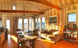 living room sun, eagles pass cottage