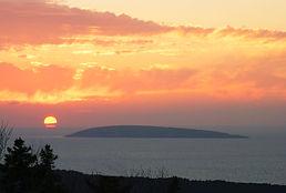view from deck, deepBlueSea cottage, seasky oceanfront cottgages in chimney corner, cape breton