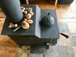 wood stove, SeaSky cottage