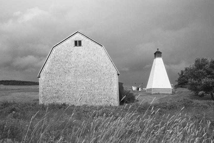 barn and lighthouse,margaree harbour