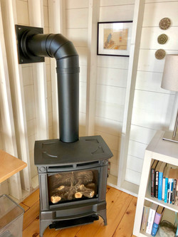 working fireplace at cape cottage