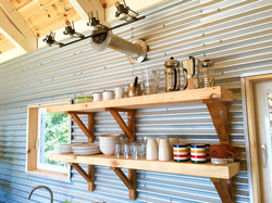 beautiful shelves, tumbleSea cottage