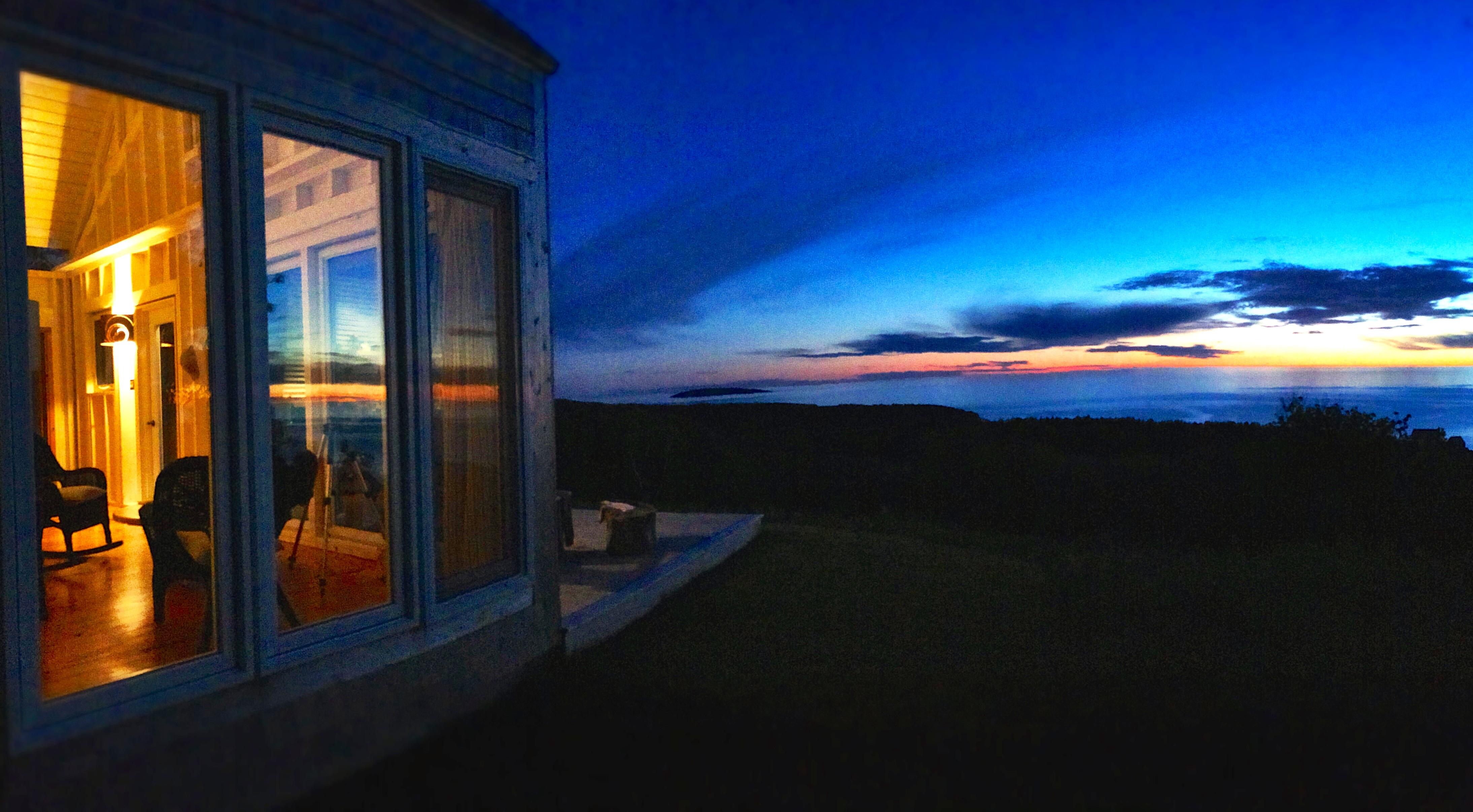 cape cottage twilight