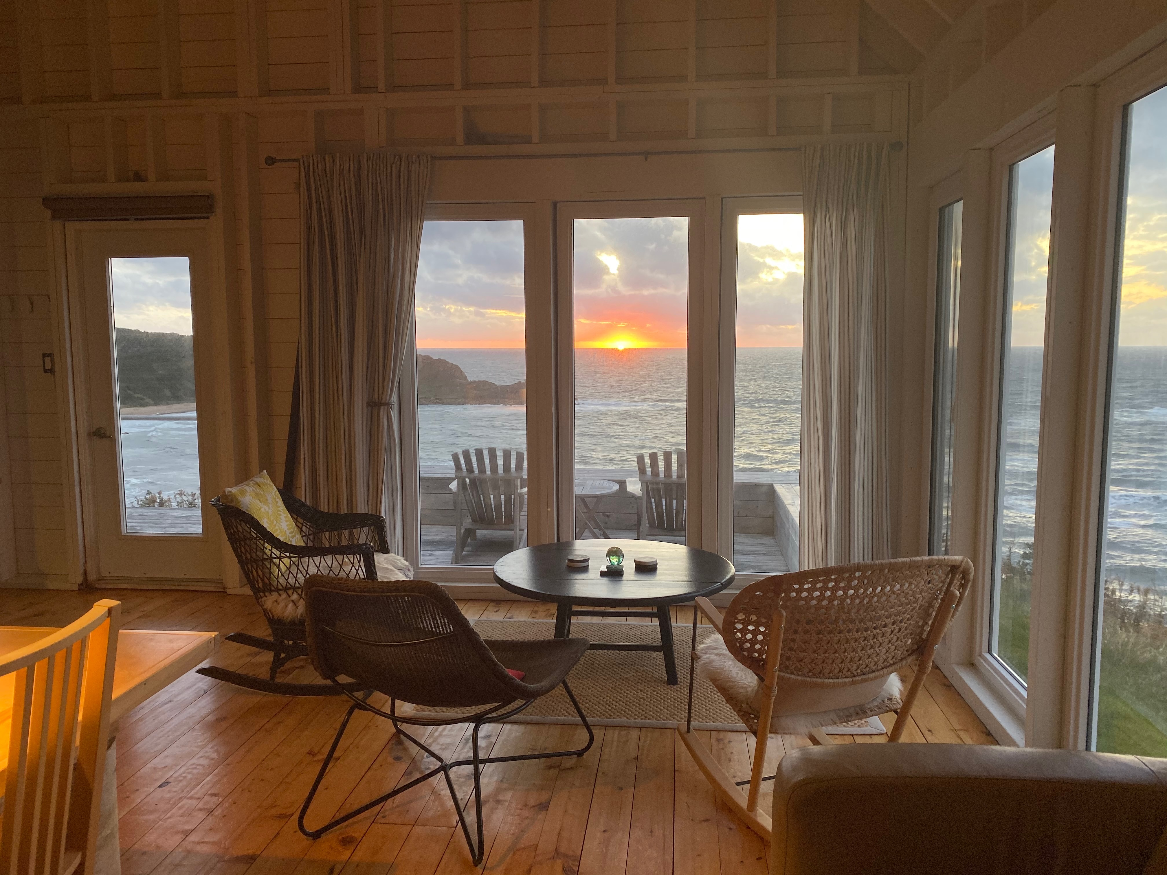 great sunset from the living room