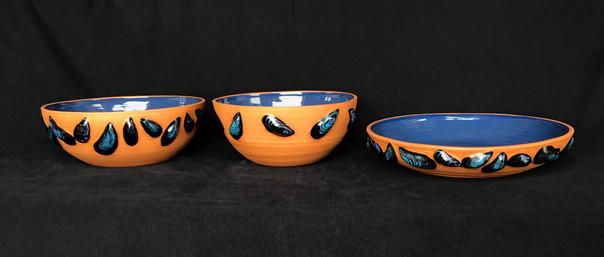 terracotta mussel bowls