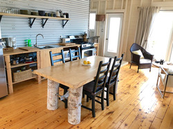 handmade birch table at cape cottage