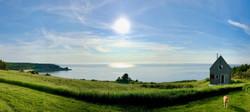 SeaSky cottage on July afternoon.