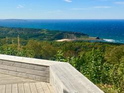 deck view, deepBlueSea cottage
