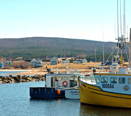 Fishing boats at Margaree Harbour