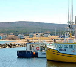fishing boats, margaree harbour