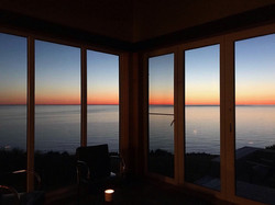 sunset from inside