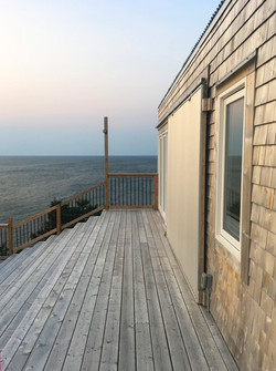 upper deck at tumbleSea cottage
