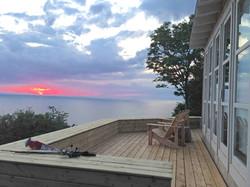 deep blue deck sunset