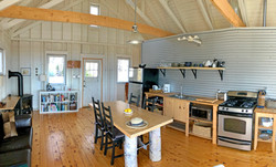 lots of space in the kitchen area