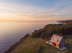 SeaSky cottage in the evening