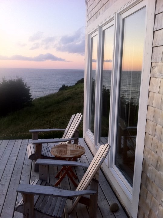 deck and chairs, eagles pass cottage