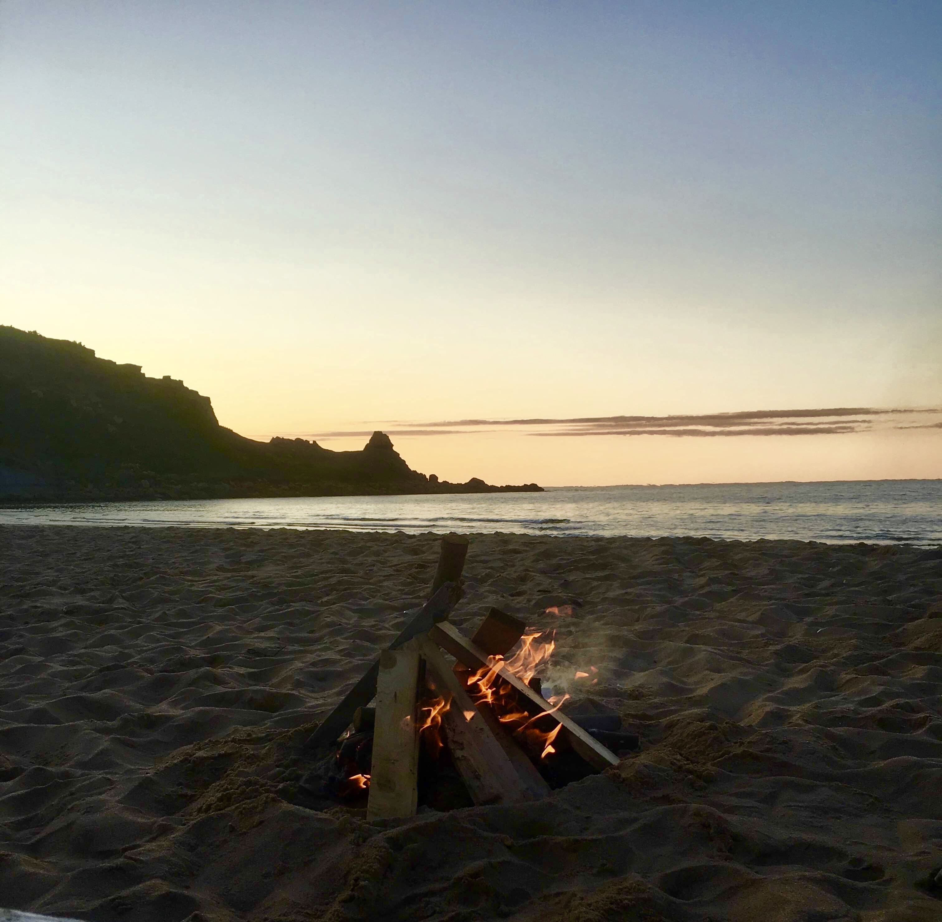 campfire at Chimney Corner beach
