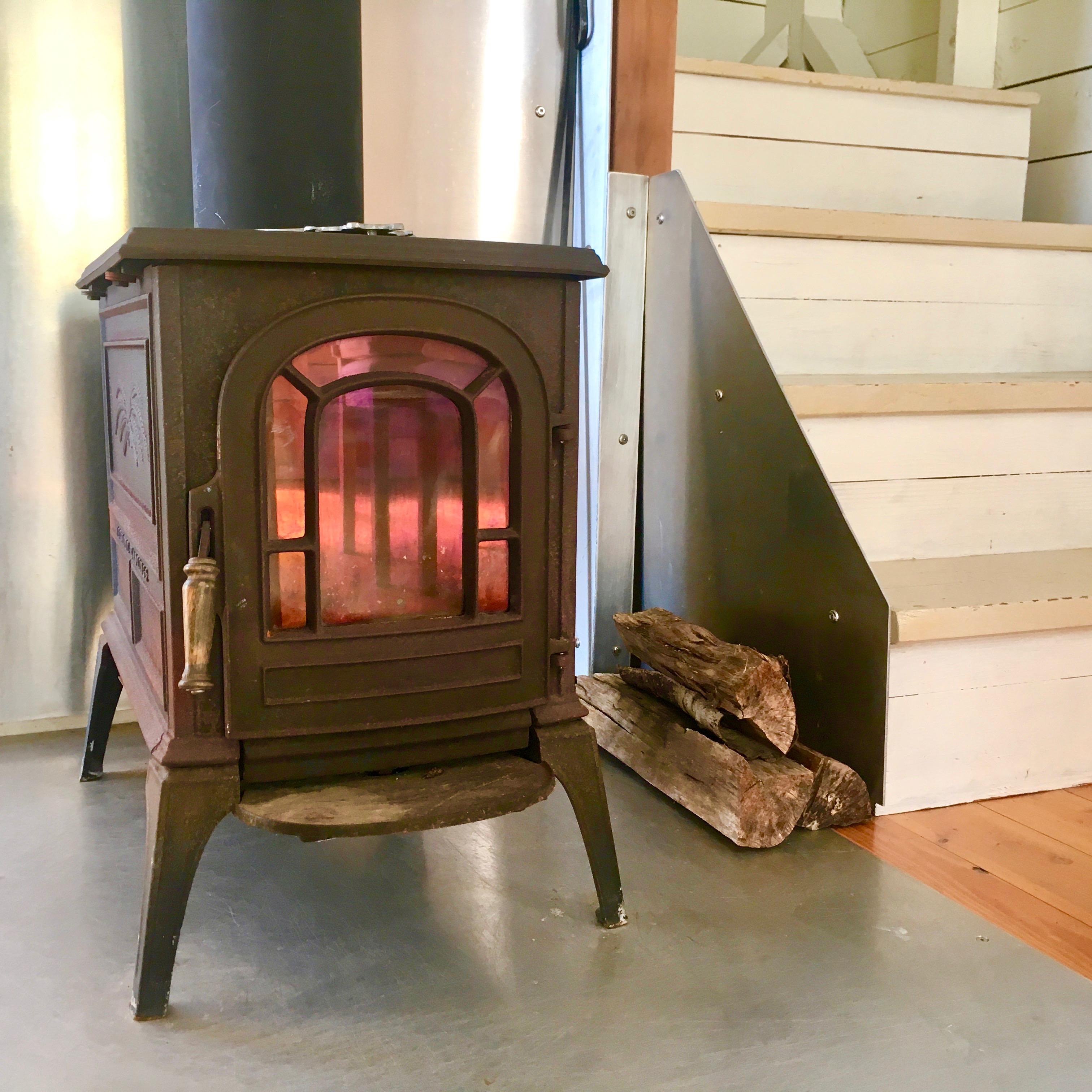 Vermont Castings stove, deepBlueSea