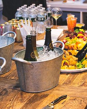 Canva - Three Gray Ice Buckets on Table.